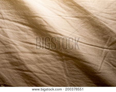 Creased Bed White Sheet Pattern Texture From Above