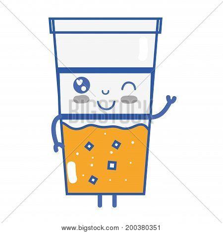 kawaii cute funny drink beverage vector illustration
