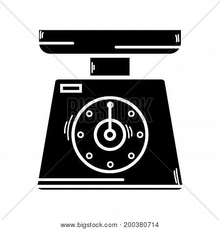 contour scale weight machine kitchen utensil vector illustration