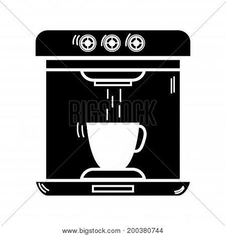 contour technology coffee maker electric kitchen utensil vector illustration