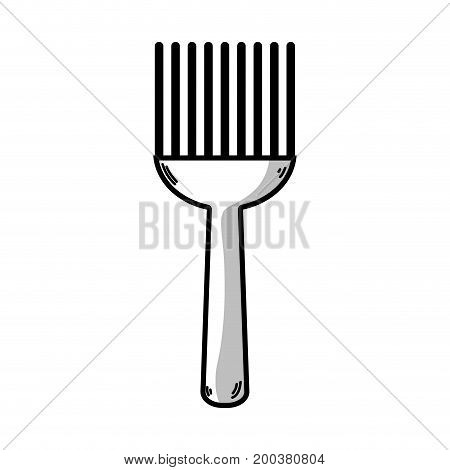 line fork kitchen utensil that used to cook vector illustration