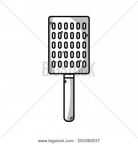 line slice kitchen utensil that used to cook vector illustration