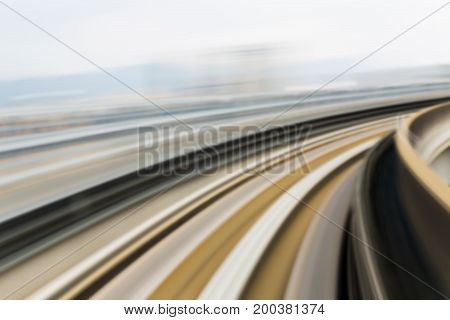 Moving blurred motion train track abstract background