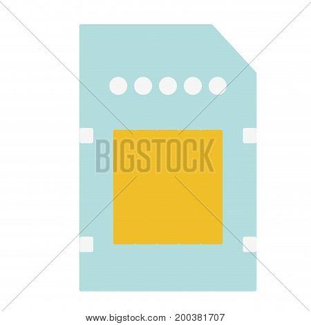 technology micro sd data memory vector illustration