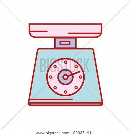 scale weight machine kitchen utensil vector illustration
