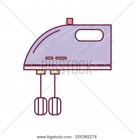 technology mixer electric kitchen utensil vector illustration