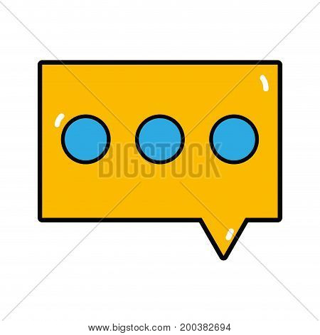 chat bubble to dialogue message text vector illustration
