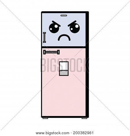 kawaii cute angry kitchen utensil vector illustration
