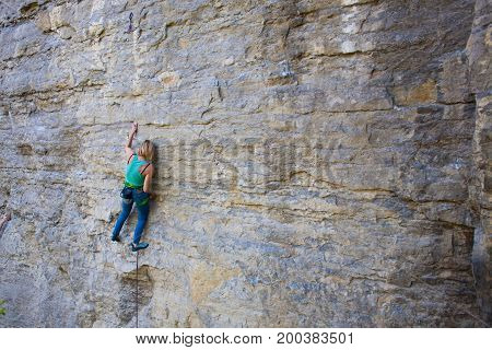 Girl Rock Climber..