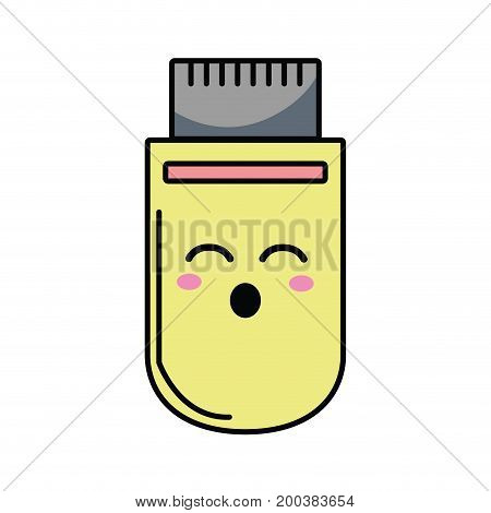 kawaii cute funny usb memory vector illustration