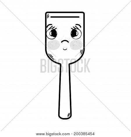 line kawaii cute tender kitchen utensil vector illustration
