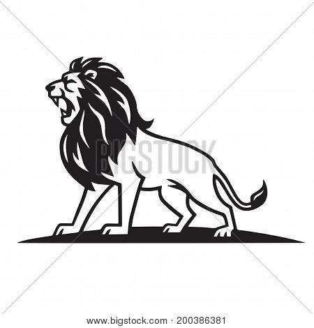 Lion Logo Template Vector Design Illustration Simple Line