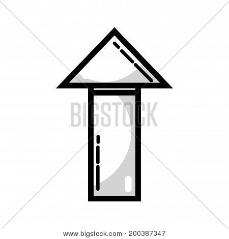 line business arrow to marketing strategy information vector illustration