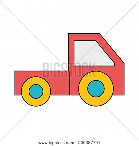 trunk vehicle transportation style design vector illustration