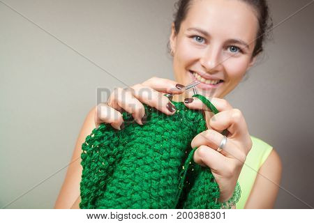 Close-up Woman  Knitting
