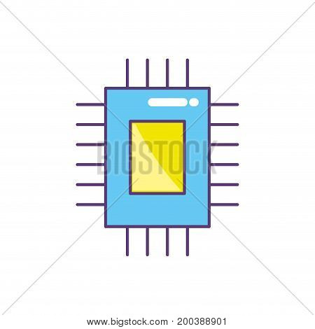 circuit data technology to center server vector illustration
