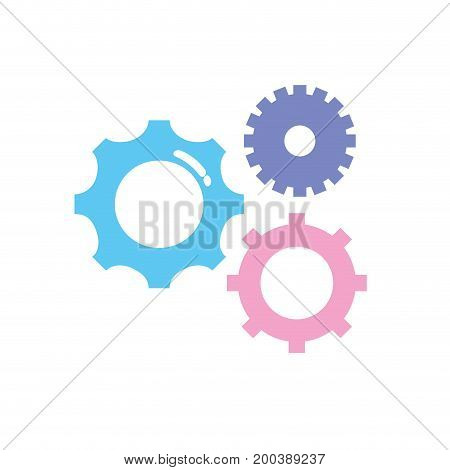 gears engineering industry process technology vector illustration