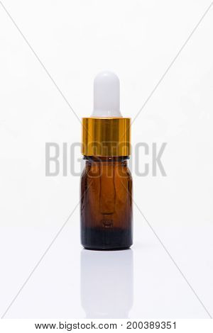 Cosmetics, Moisturizer, Serum Bottle Isolated On White.