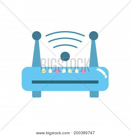 router wifi connection network technology vector illustration