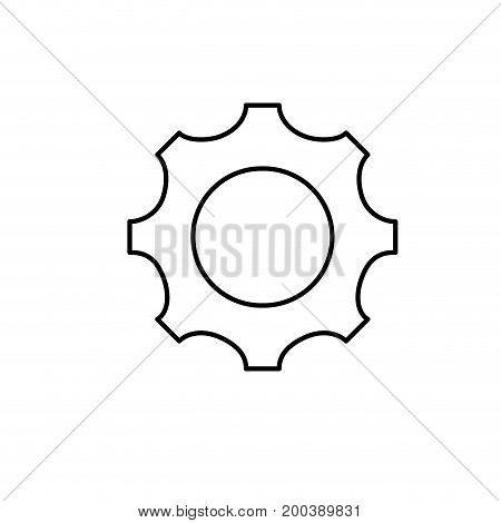 line gear engineering industry process technology vector illustration