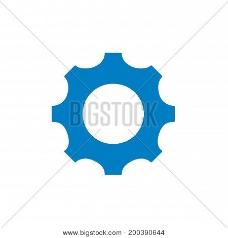 silhouette gear engineering industry process technology vector illustration