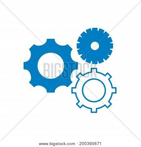 silhouette gears engineering industry process technology vector illustration