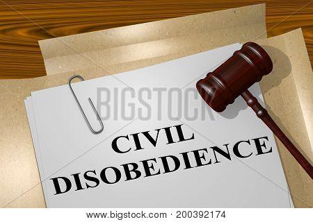 Civil Disobedience Concept