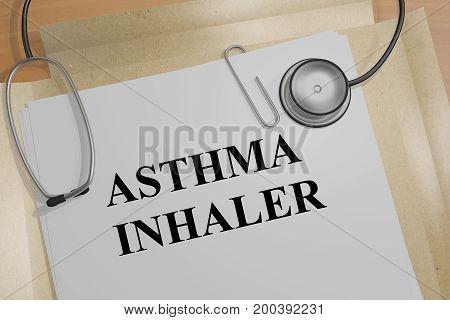 Asthma Inhaler - Medical Concept