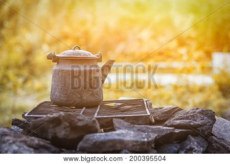 Still Life Of Things On A Mountain Theme