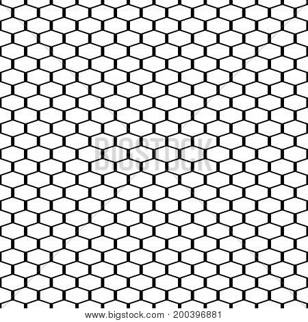Abstract black and white background. Seamless geometric grille texture vector illustration.