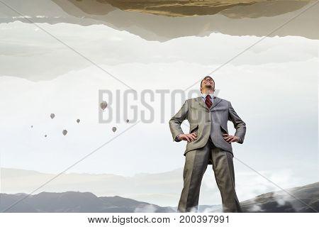 He is big boss. Mixed media