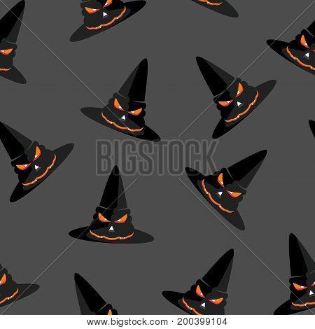 Seamless Pattern Hat Grey