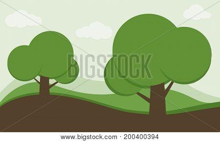Park background, Nature background, Garden background, Landscape background, Kid cartoon nature background, Big tree in nature background, Global warming concept.