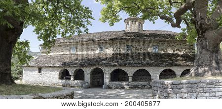 Ancient Christian church in the mountains (Epirus region, Greece)