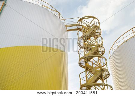 Storage Tanks Of Industrial Oil Mill