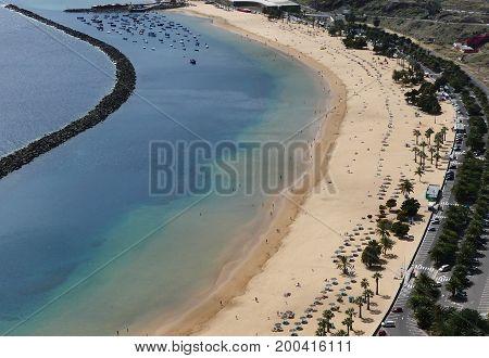 Teresitas beach of island Tenerife in Spain