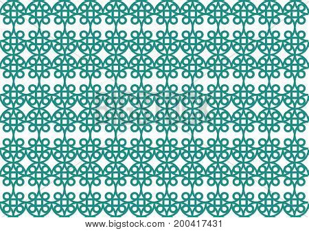 picture with geometric repeating pattern on a homogeneous light background