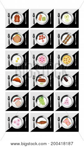 Restaurant icon set suitable for info graphics websites and print media EPS8