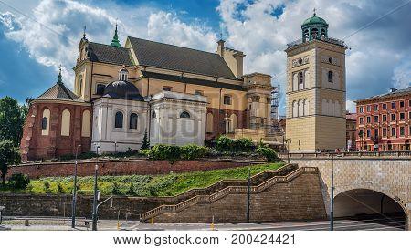 Warsaw, Poland: St. Annes Church in the summer
