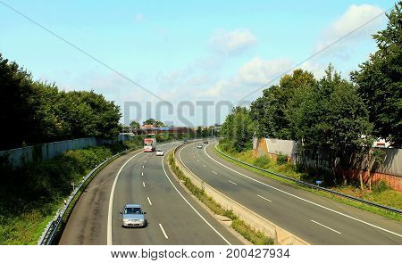 Autobahn Germany Transport way To Bavaria southwardly