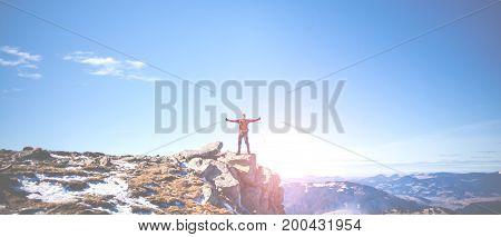 The Climber Climbed The Mountain.