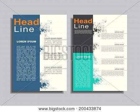 Flyers report brochure cover book portfolio design template. Vector illustration.