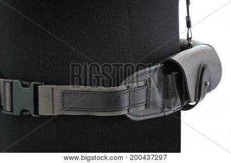 Hunting Belt For Accessories On A Mannequin, Isolated