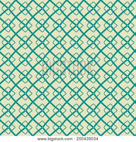 Seamless abstract geometric pattern in contrasting colors. Lattice of intersecting thick lines in hand drawn style
