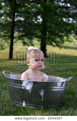 Toddler In Tub
