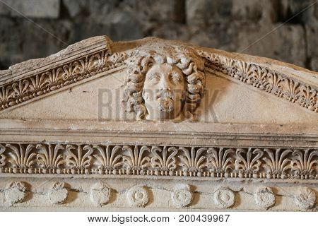Sarcophagus In Hierapolis Ancient City, Turkey