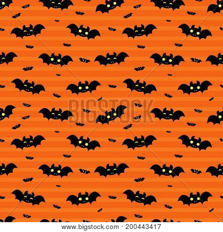 Abstract Seamless Pattern For Girls Or Boys. Creative Vector Background With Bat, Cloud Boo, Hallowe