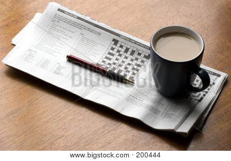Cup Of Tea On A Crossword