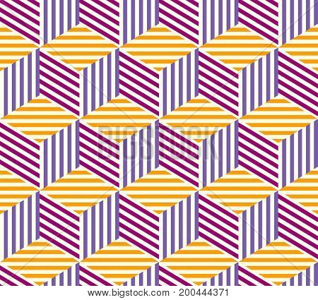 Seamless background. Geometric abstract pattern. Imitation of a geometrical cubes.