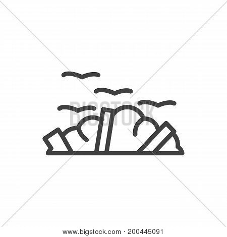 Vector Garbage Element In Trendy Style.  Isolated Rubbish Outline Symbol On Clean Background.